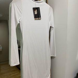 Naked wardrobe NW mini dress NWT WHITE LARGE